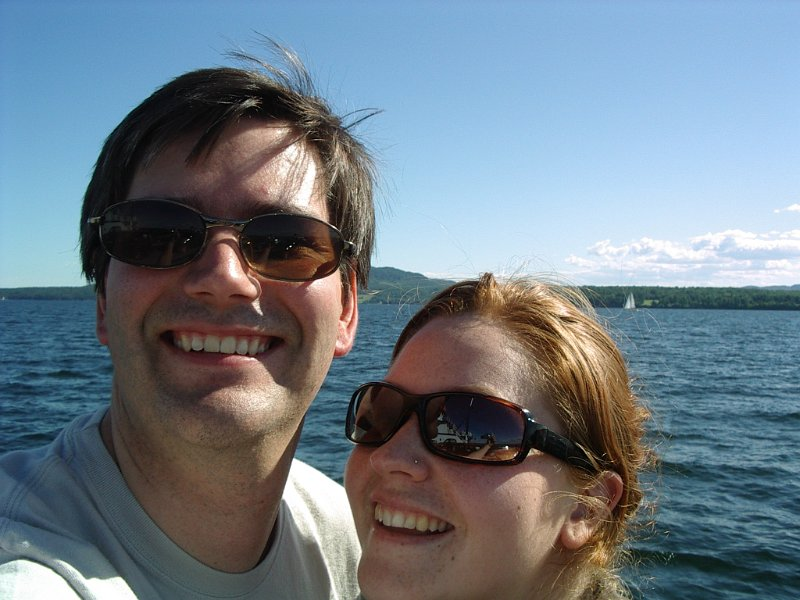 Us on ferry