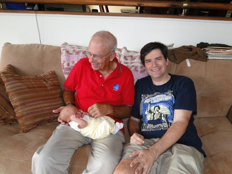 Nina, Dad and me