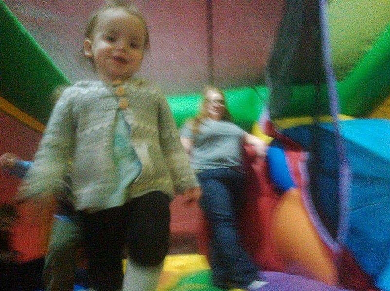 Nina bouncing